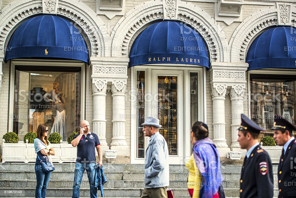 Ralph Lauren Boutique in Moscow, Russia stock photo