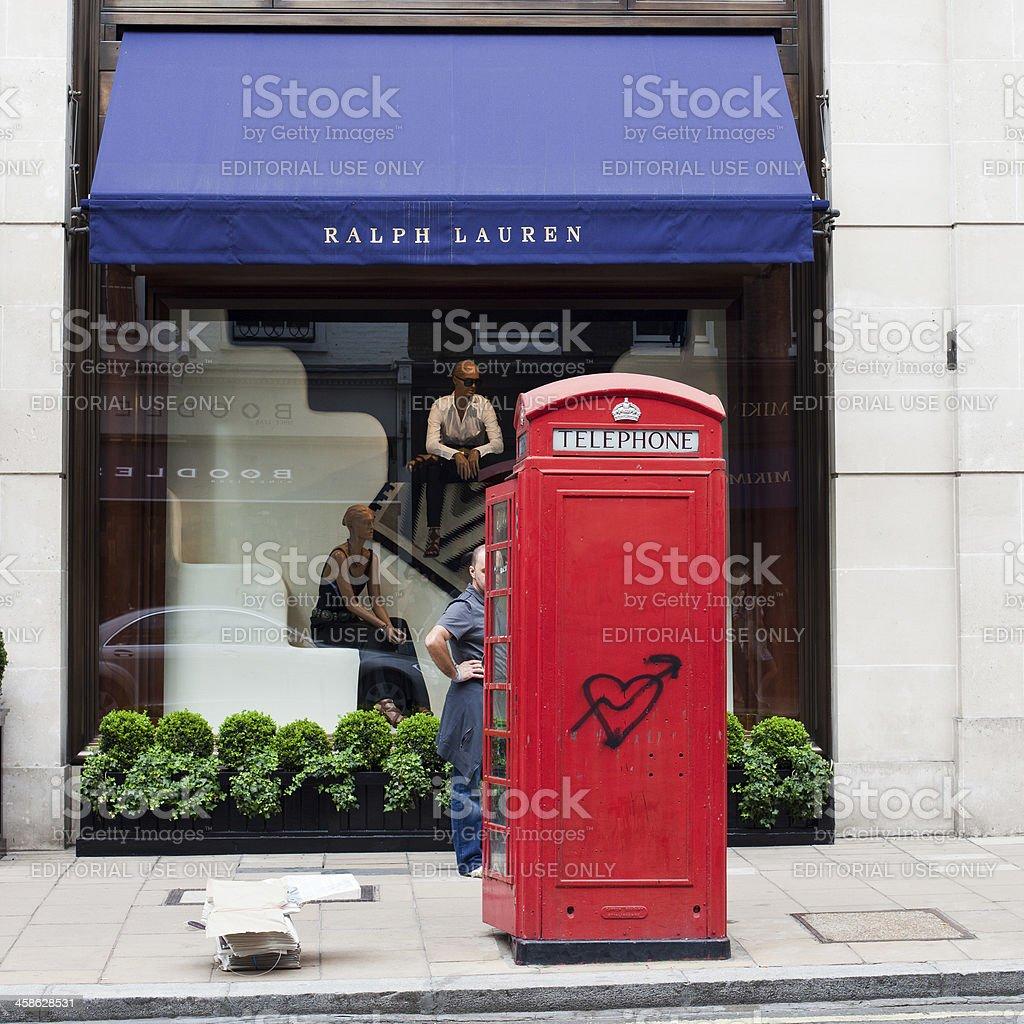 Ralph Lauren Store in London stock photo