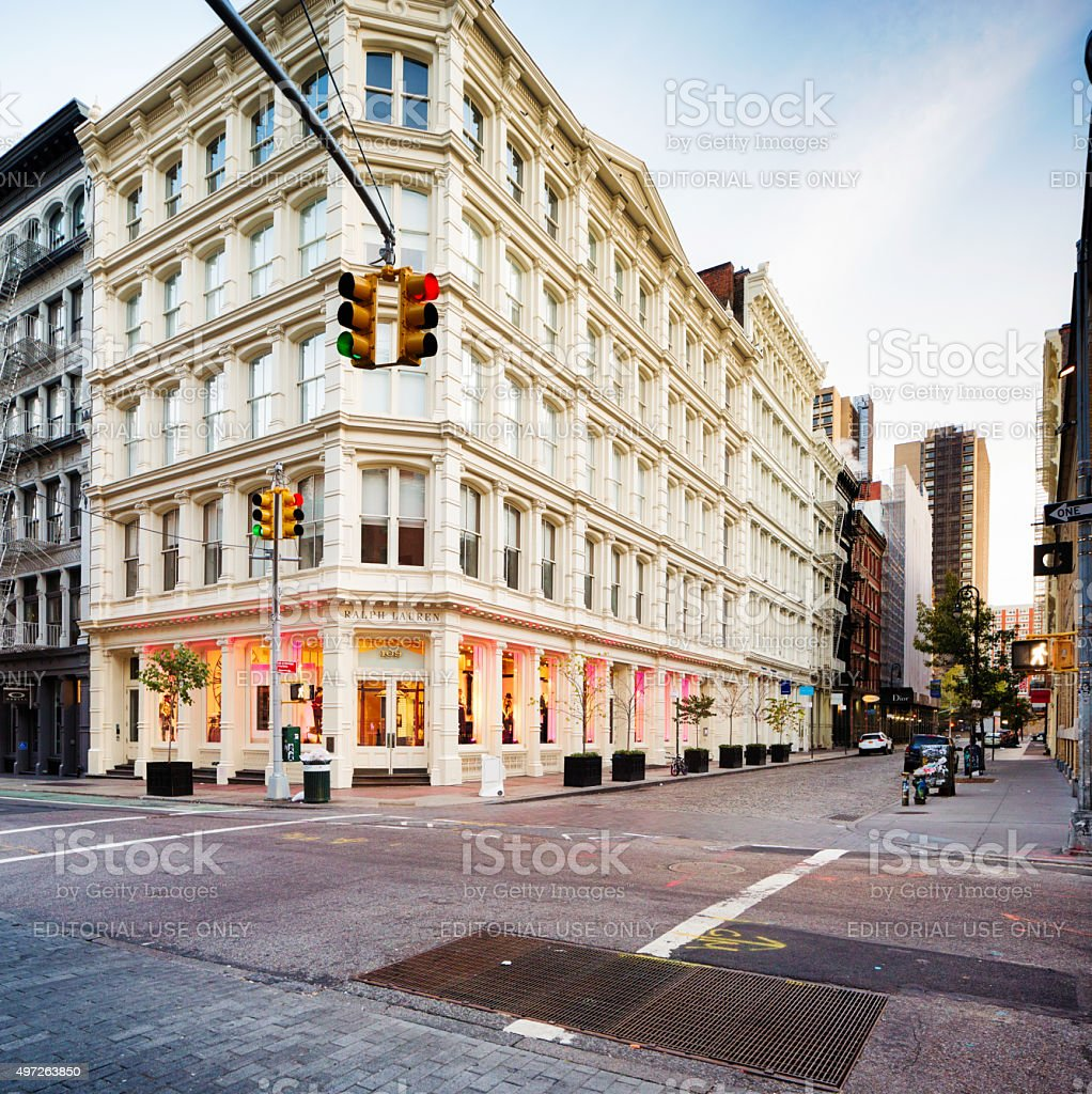 Ralph Lauren store in Soho Manhattan early morning stock photo