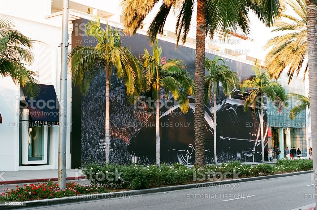 Ralph Lauren Store on Rodeo Drive stock photo