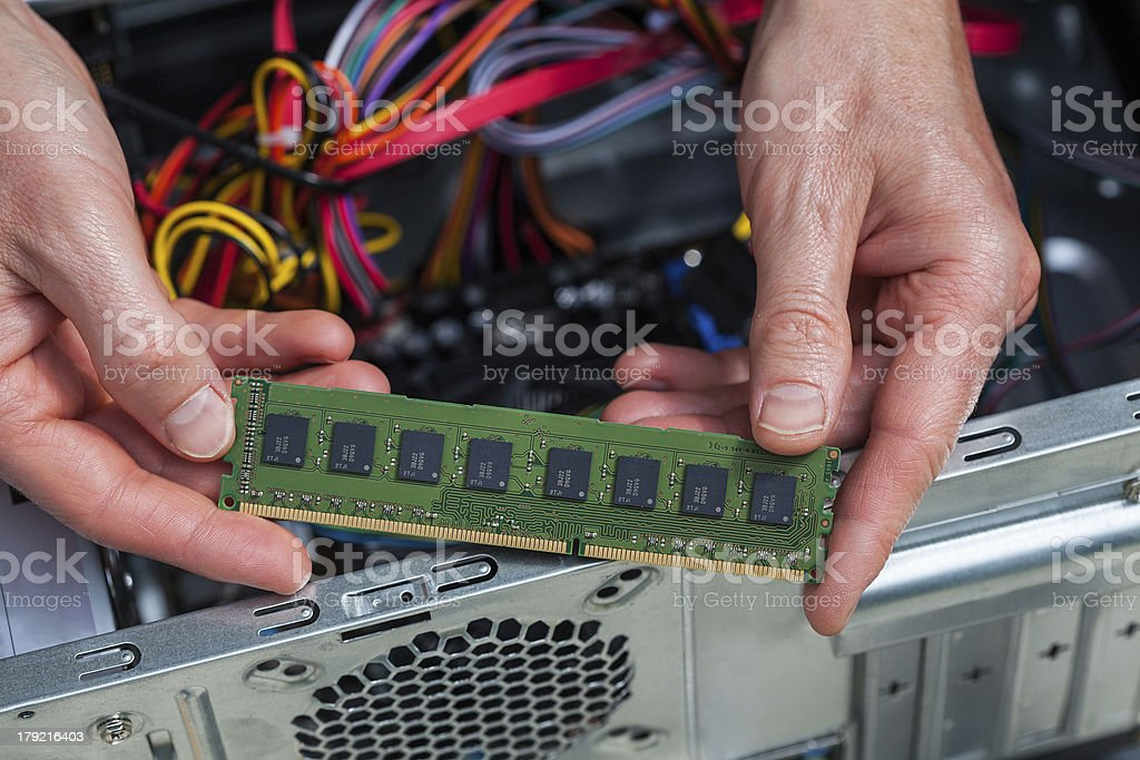 Ram card assemblage royalty-free stock photo