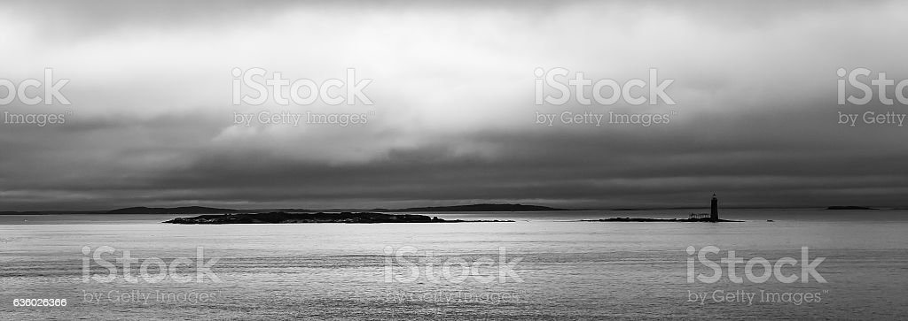 Ram Island Ledge Light - Portland, Maine stock photo