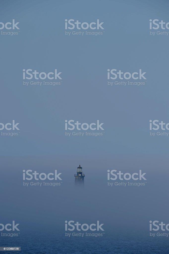 Ram Island Ledge Light Station stock photo
