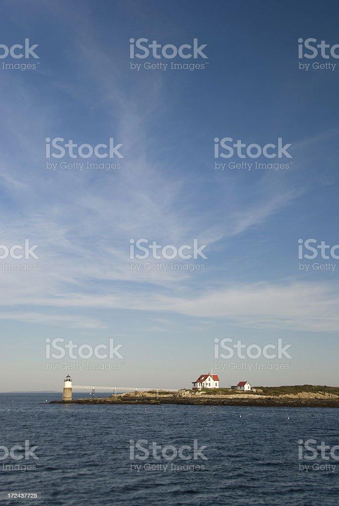 Ram Island Lighthouse stock photo