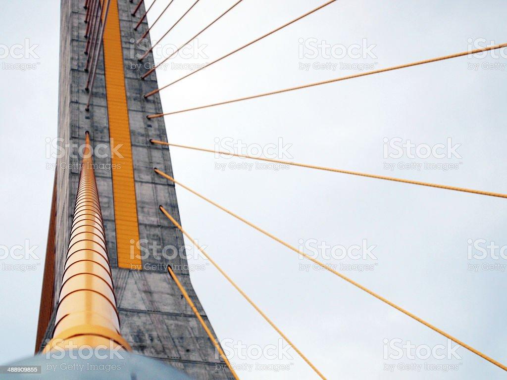 Rama 8 Bridge at daytime in Bangkok, Thailand stock photo