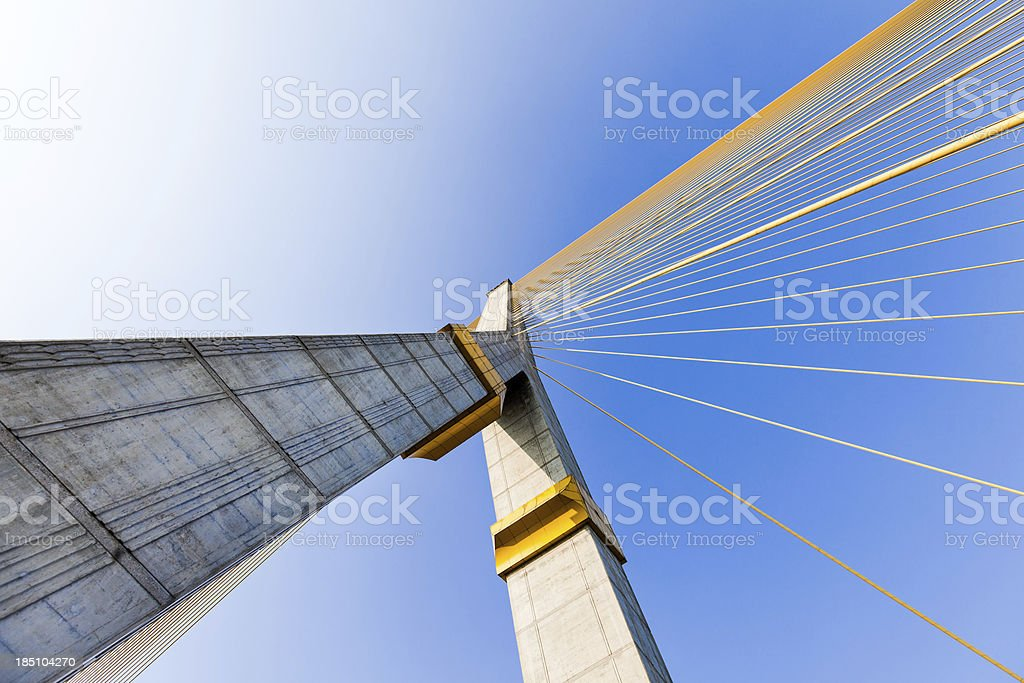 Rama bridge VIII in Bangkok royalty-free stock photo