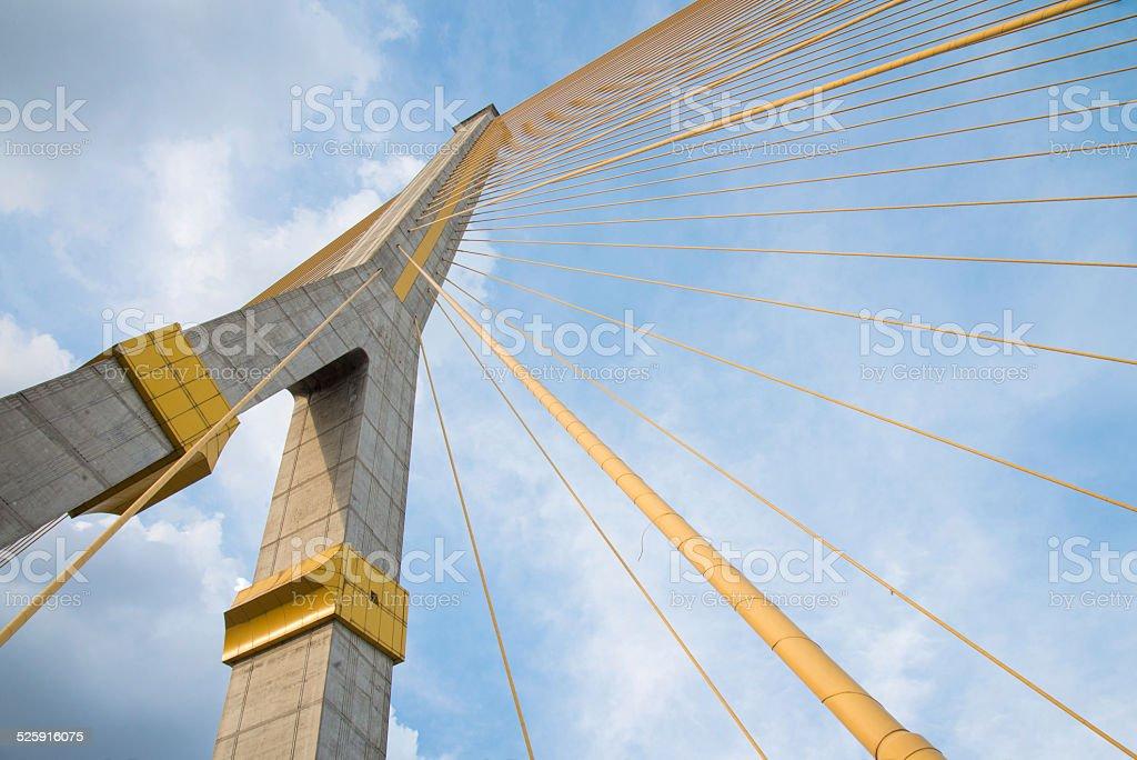 Rama VIII Bridge, bridge over the Chao Phraya River stock photo