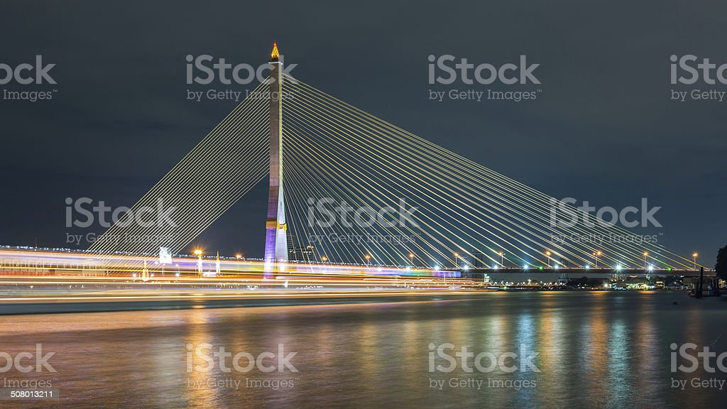 Rama VIII Bridge stock photo