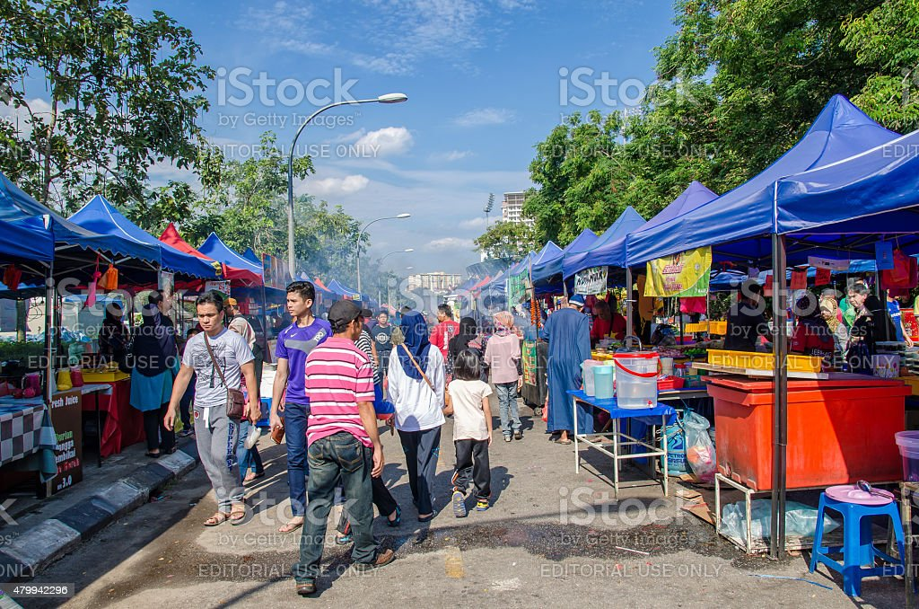 Ramadan Bazaar during the holy month of Ramadan. stock photo