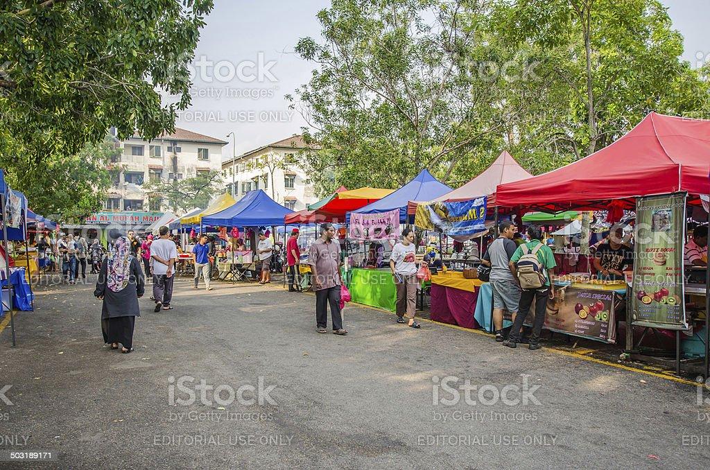Ramadan Bazaar Kuala Lumpur stock photo