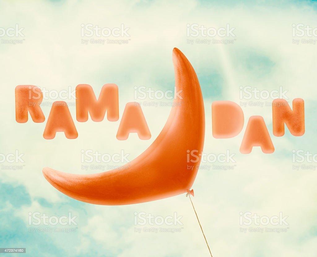 Ramadan crescent stock photo