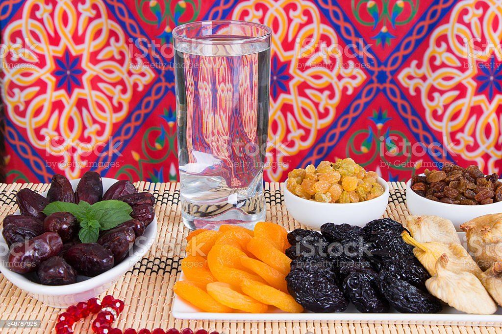 Ramadan dried fruits stock photo