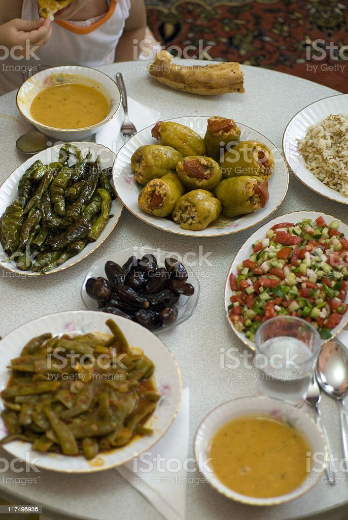 Ramadan Food, Istanbul, Turkey royalty-free stock photo