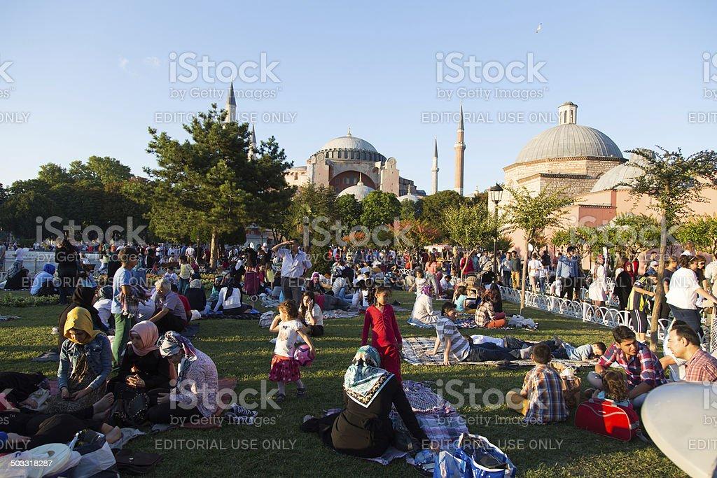 Ramadan in Istanbul stock photo