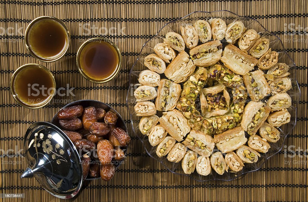 Ramadan sweets stock photo