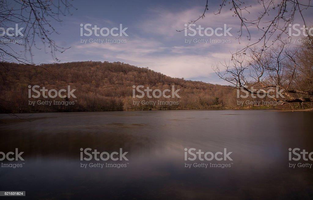 Ramapo Valley Lake stock photo