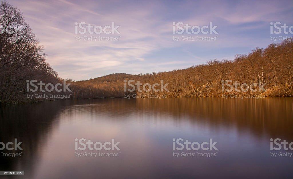 Ramapo Valley Reservoir stock photo