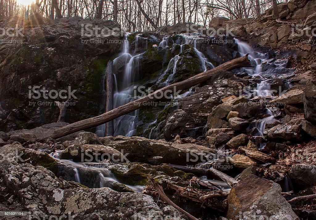 Ramapo Valley Waterfall stock photo