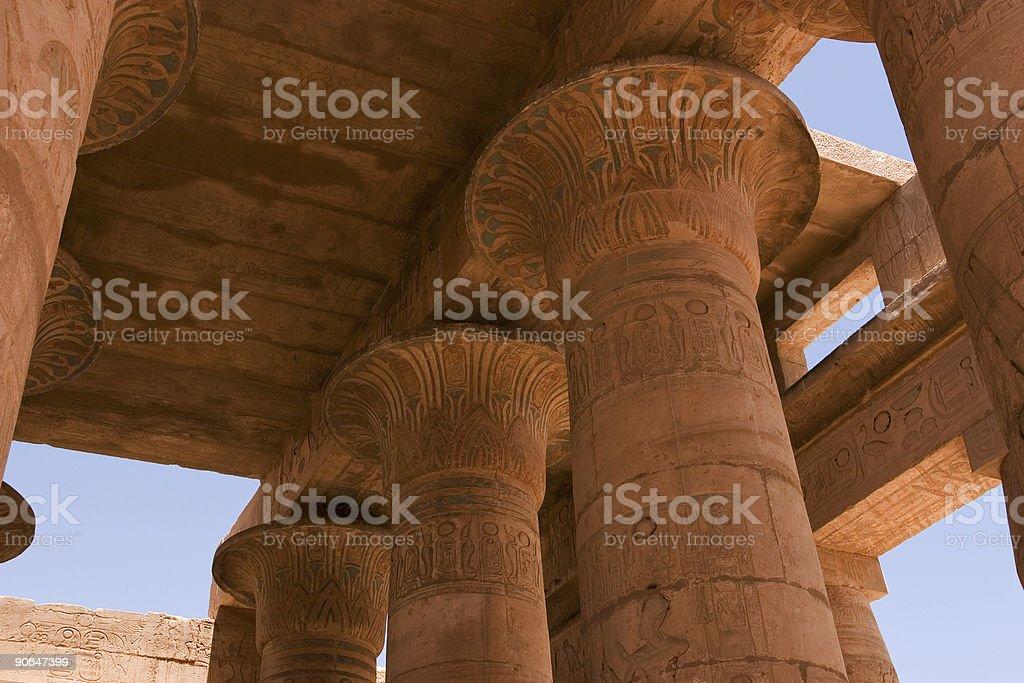 Ramaseum Roof and Pillars royalty-free stock photo