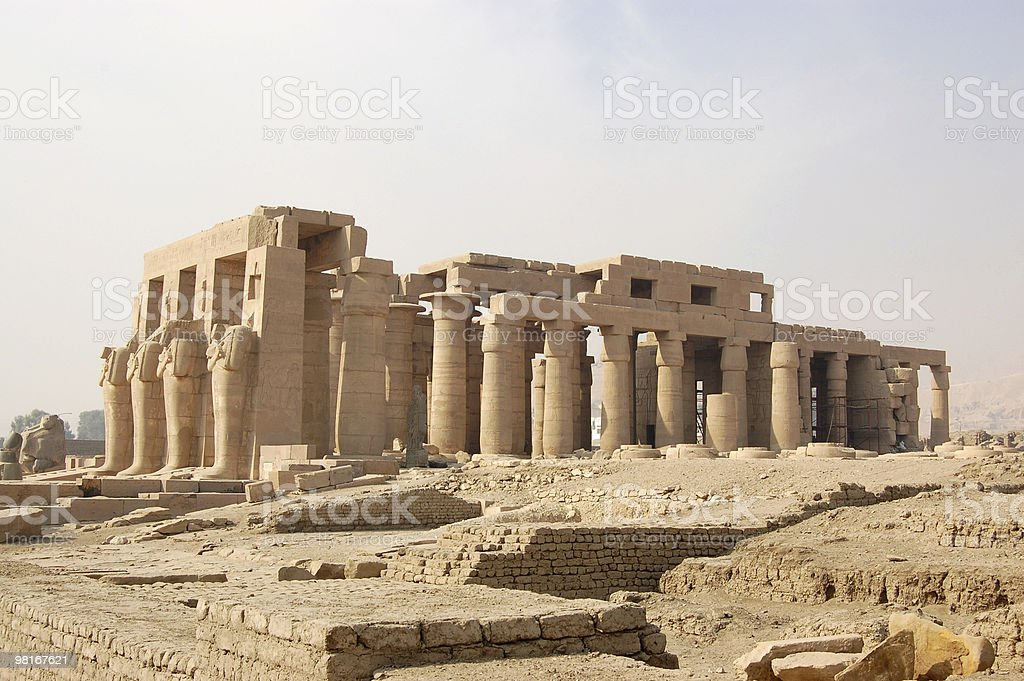 Ramasseum temple, Luxor royalty-free stock photo