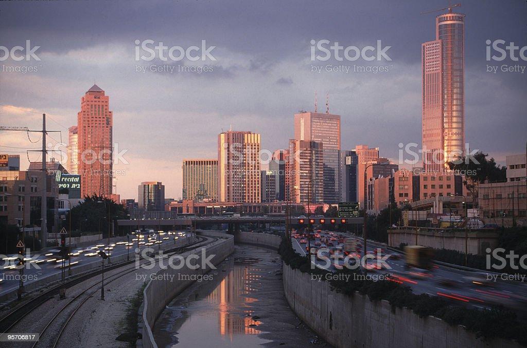 Ramat Gan city stock photo