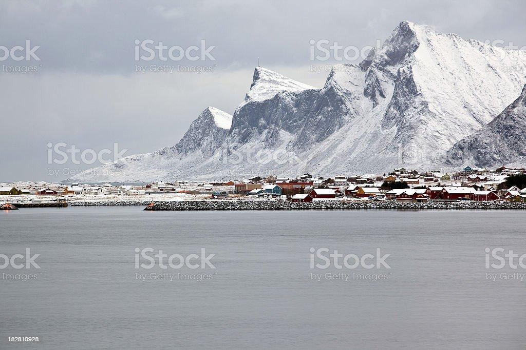 Ramberg, Flakstadøya, loften Islands stock photo