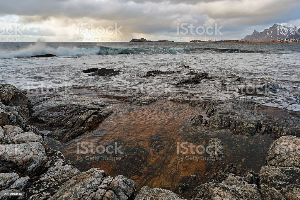Ramberg - Lofoten Islands stock photo