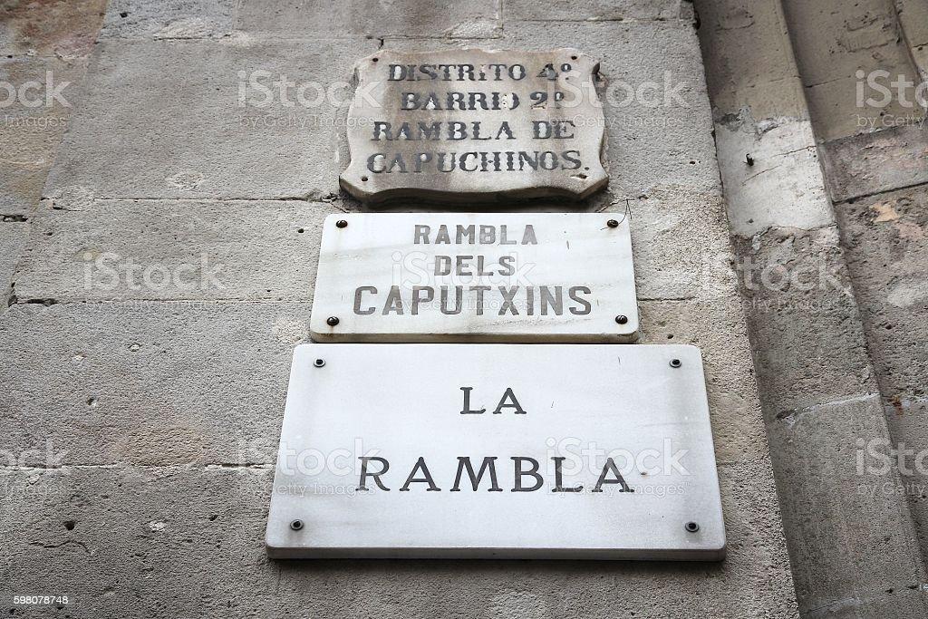 Rambla, Barcelona stock photo