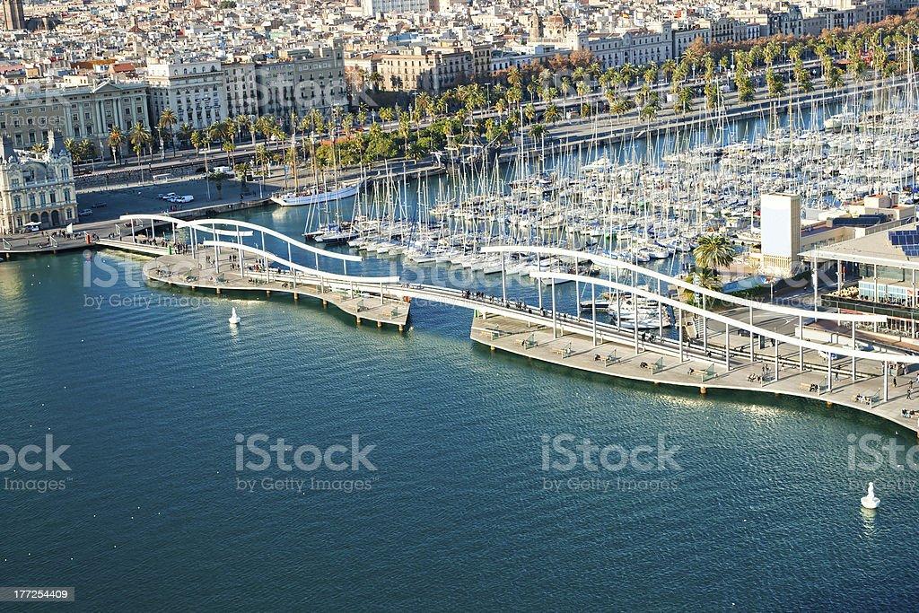 Die Rambla del mar, Barcelona, Spanien. – Foto