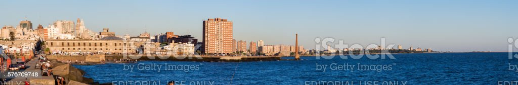 Rambla in Montevideo, Uruguay stock photo