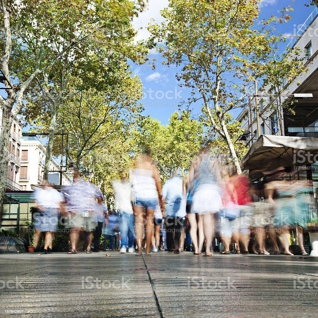 Ramblas of Barcelona stock photo