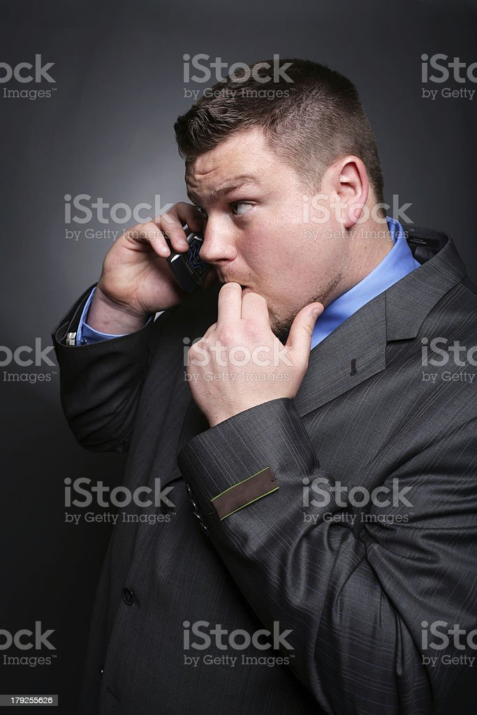 Rambunctious Caucasian Male on Cell Phone royalty-free stock photo