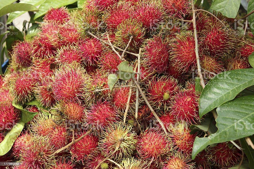 Rambutan fruit. royalty-free stock photo