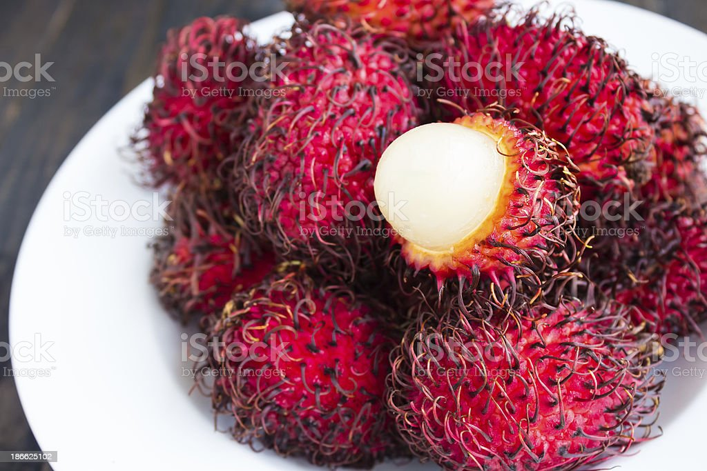 Rambutan royalty-free stock photo