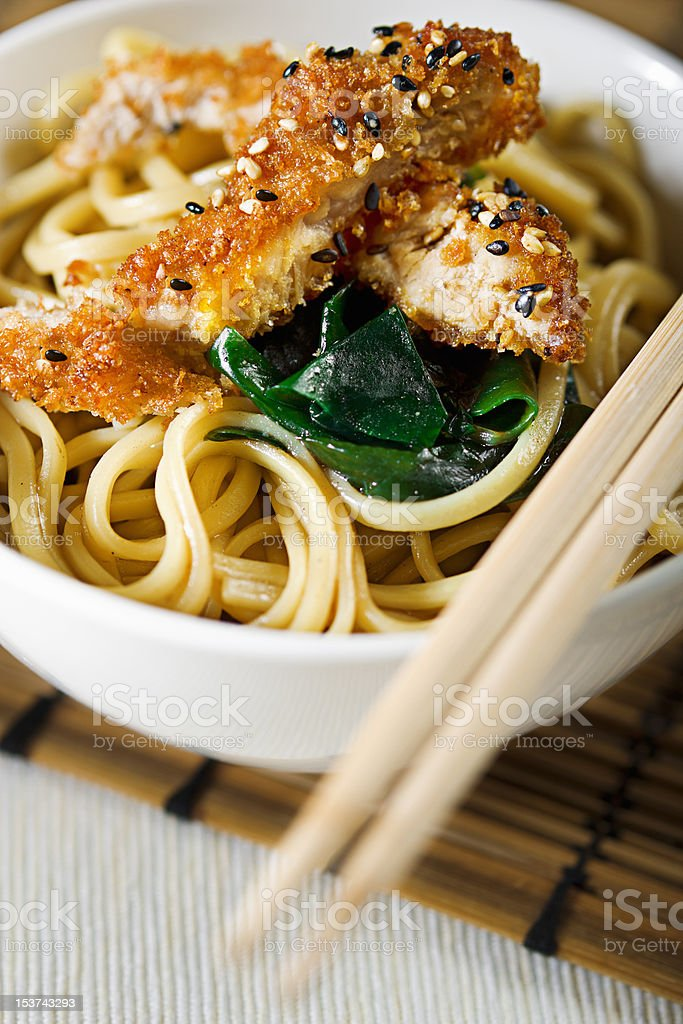 Ramen and Tonkatsu Teisyoku royalty-free stock photo