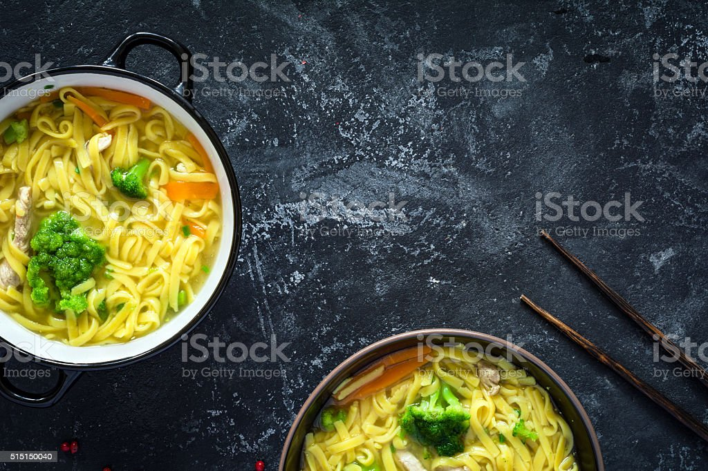 Ramen, asian noodle soup stock photo