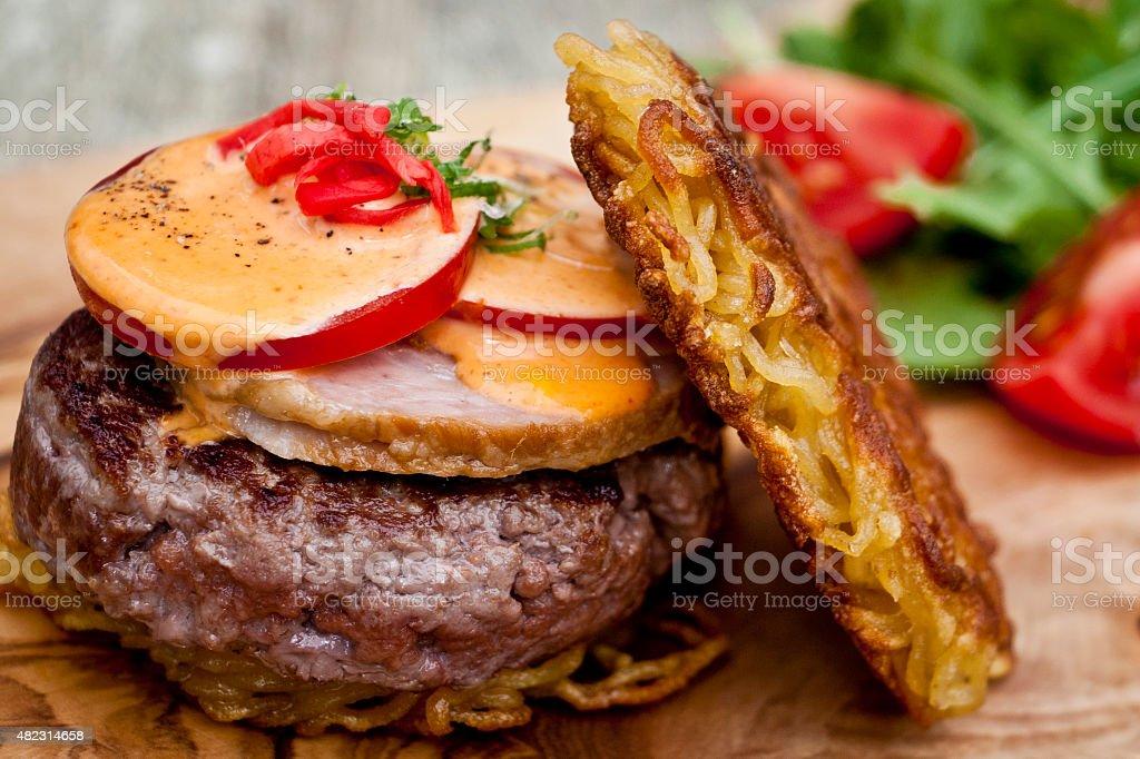 Ramen Burger stock photo