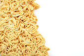 ramen instant noodles isolated on white background