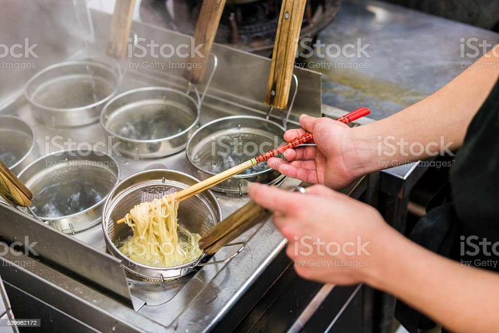 Ramen Noodles from Kyoto, Japan stock photo