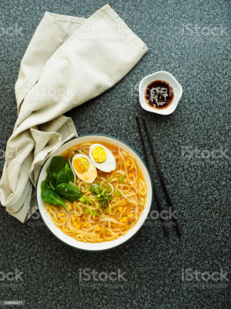 ramen noodles stock photo