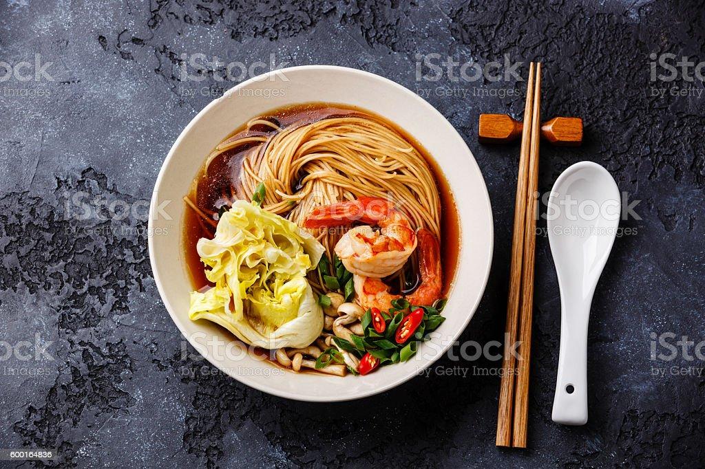 Ramen noodles with Prawns – Foto