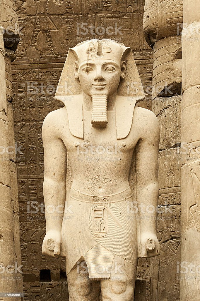 Rameses II At Luxor Temple, Egypt stock photo