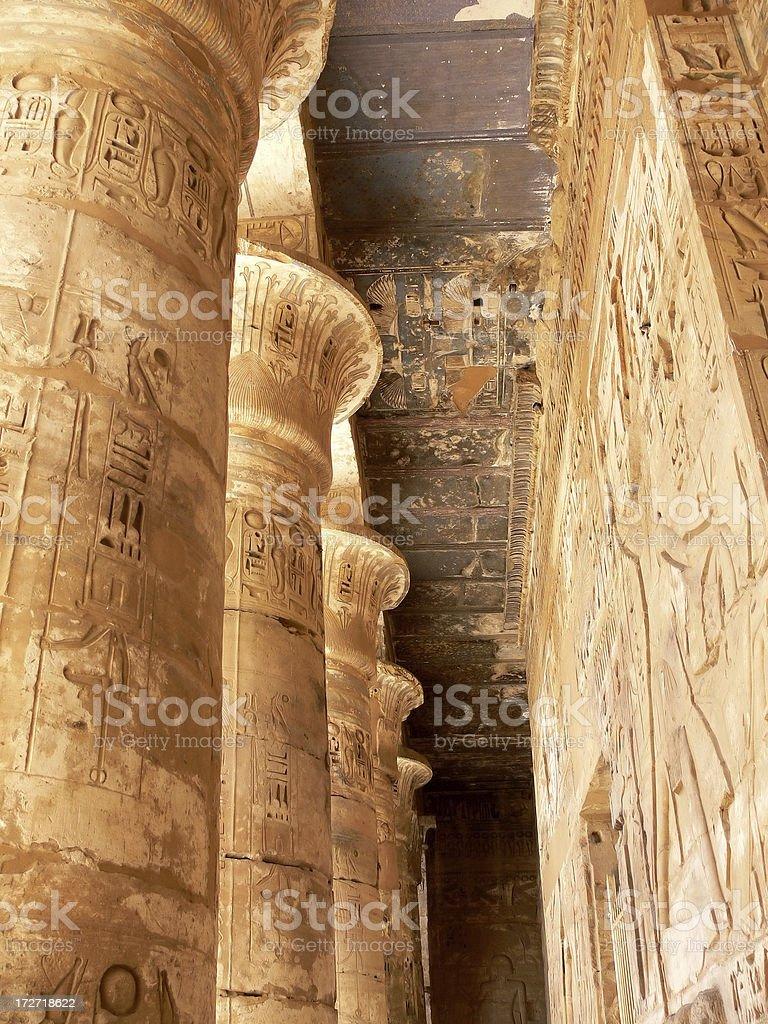 Rameseum Temple stock photo