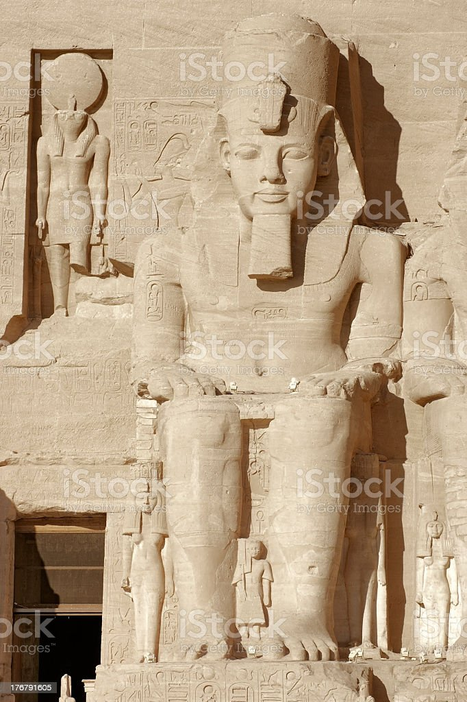 Ramesses at Abu Simbel temples in Egypt stock photo