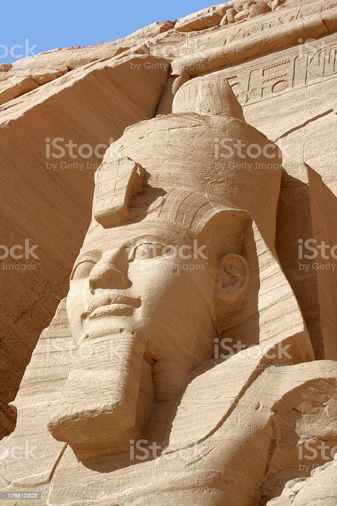 Ramesses at Abu Simbel temples stock photo