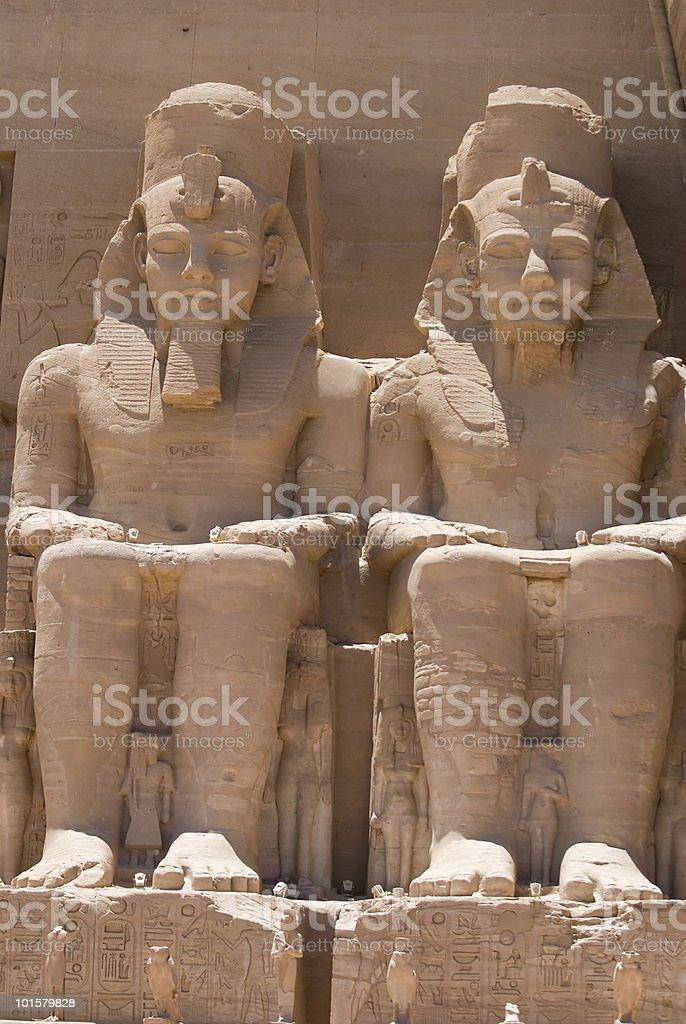 Ramesses II in Abu Simbel royalty-free stock photo
