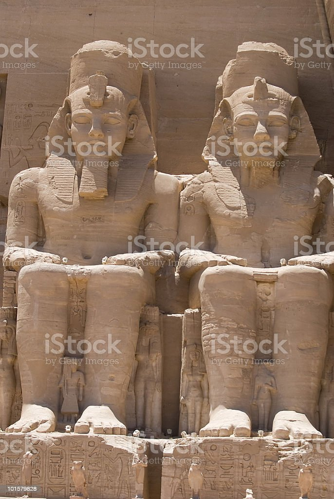 Ramesses II in Abu Simbel stock photo
