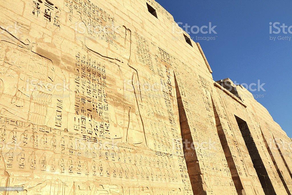 Ramesses III Smiting Nubians, Medinet Habu, Luxor, Egypt. stock photo
