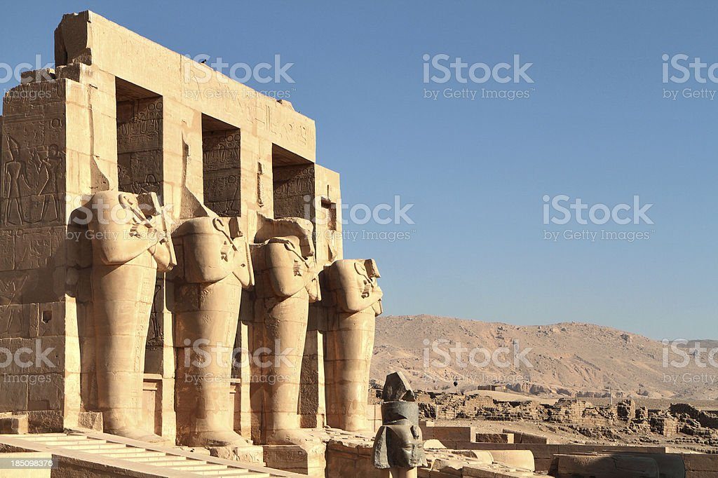 Ramesseum, Theban Necropolis, Luxor, Egypt stock photo