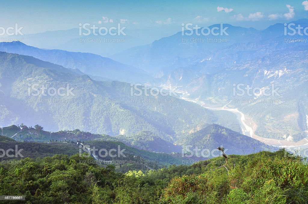 Ramitey view point, Sikkim, India. royalty-free stock photo